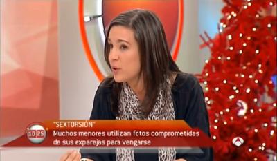 Ofelia Tejerina, de PantallasAmigas, en Antena 3