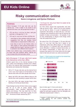 EUkidsonline - Risky online communications