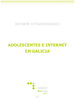 Informe do Valedor do pobo: Adolescentes e Internet