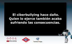 Fotograma de la animación sobre ciberbullying con su consejo correspondiente