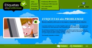 Captura del web ETIQUETASsinPROBLEMAS.com