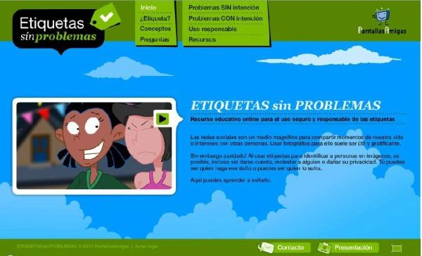 Recurso educativo online para el uso seguro y responsable de las etiquetas